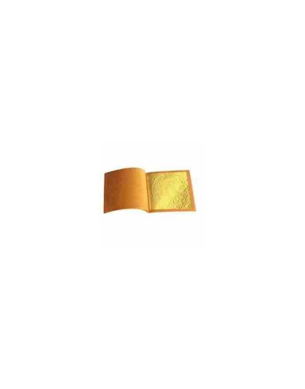 Feuille d'or 24 carats sur base 70mm x 70mm (100 ou 500 feuilles)