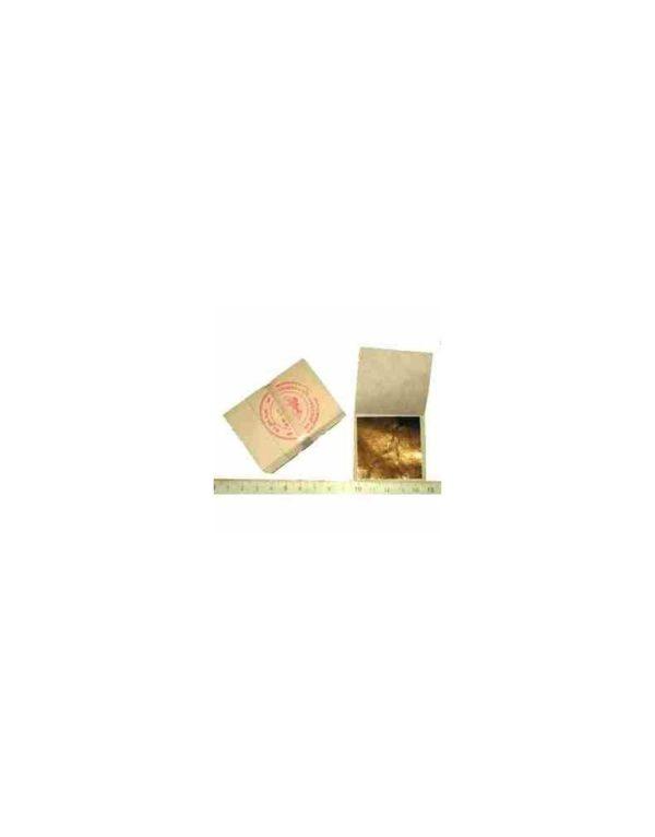 Feuille d'or 24 carats sur base 45mm x 45mm (20/50/100 feuilles)