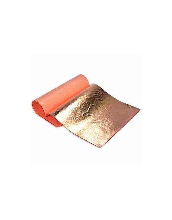 Feuille de cuivre pur veritable 14 cm x 14 cm