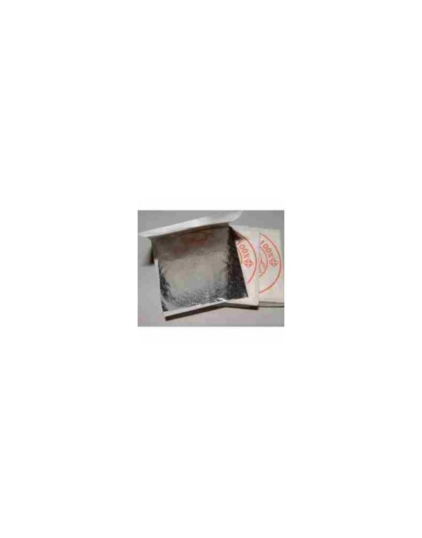 Feuilles d'argent 999/1000 pur 40 mm x 40 mm (10/20/50/100 feuilles)