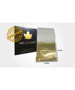 feuille d'OR 18 mm x 18 mm pur 24 carats (50 feuilles)
